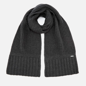 Michael Kors Men's Dashed Rib Muffler - Charcoal