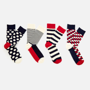Happy Socks Mens Big Dot 4-Pack Socks Box - Multi - UK 7.5-11.5