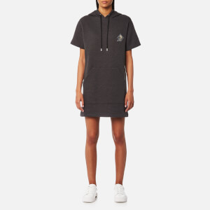 Versus Versace Women's Hooded Logo Dress Short Sleeve - Grey