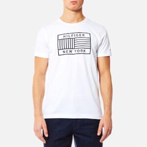 Tommy Hilfiger Men's Norman Crew Neck Short Sleeve T-Shirt - Bright White