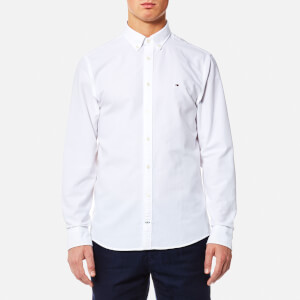 Tommy Hilfiger Men's Engineered Oxford Long Sleeve Shirt - Bright White