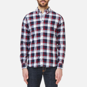 Tommy Hilfiger Men's Inger Checked Long Sleeve Shirt - Maritime Blue/Bright White/Haute Red