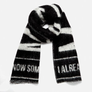 McQ Alexander McQueen Men's Brushed Wool Scarf - Darkest Black