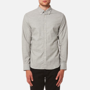 Officine Générale Men's Antime Japanese Brushed Oxford Shirt - Grey