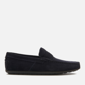 HUGO Men's Travelling Dandy Suede Moccasin Shoes - Dark Blue
