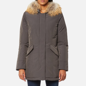 Woolrich Women's Luxury Arctic Raccoon Fur Parka - Forged Grey