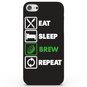Coque iPhone & Android Eat Sleep Brew Repeat - 4 Couleurs