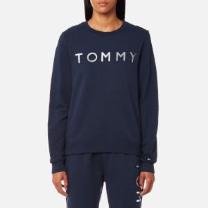 Tommy Hilfiger Women's Heavy Weight Tommy Knitted Sweatshirt - Peacoat