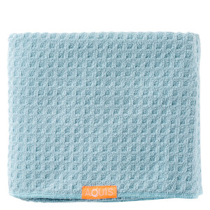 Aquis Body Towel Waffle Luxe Dream Boat Blue (Free Gift) (Worth £50.00)