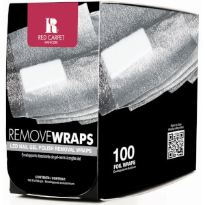 Enveloppants dissolvants vernis à ongles gel Red Carpet Manicure – 100 enveloppants