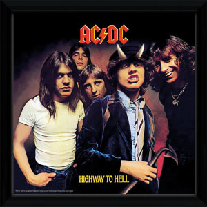 AC/DC Highway To Hell - 12 x 12 Inches Framed Album Print