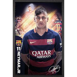 Barcelona Neymar 15/16 - 61 x 91.5cm Framed Maxi Poster