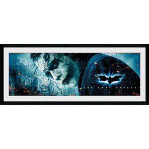 Batman: The Dark Knight The Joker - 30 x 12 Inches Framed Photograph