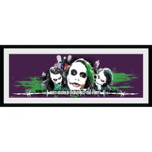 Batman: The Dark Knight The Joker Fun - 30 x 12 Inches Framed Photograph