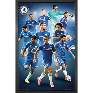 Chelsea Players 15/16 - 61 x 91.5cm Framed Maxi Poster