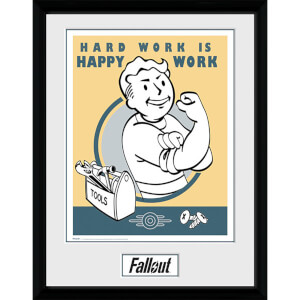 Fallout Hard Work - 16 x 12 Inches Framed Photograph