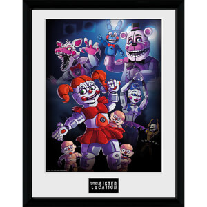 Five Nights at Freddy's Sister Location Group - 16 x 12 Inches Framed Photograph