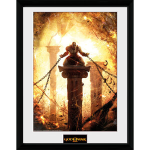 God of War Kratos Chained - 16 x 12 Inches Framed Photograph