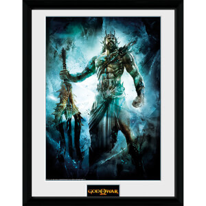 God of War Poseidon - 16 x 12 Inches Framed Photograph