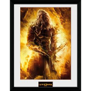 God of War Zeus - 16 x 12 Inches Framed Photograph