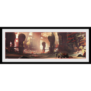 Halo City Scape - 30 x 12 Inches Framed Photograph