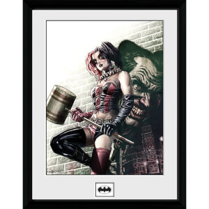 Harley Quinn Hammer - 16 x 12 Inches Framed Photograph