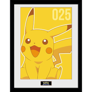 Pokémon Pikachu Mono - 16 x 12 Inches Framed Photograph