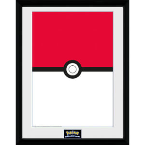 Pokémon Pokéball - 16 x 12 Inches Framed Photograph