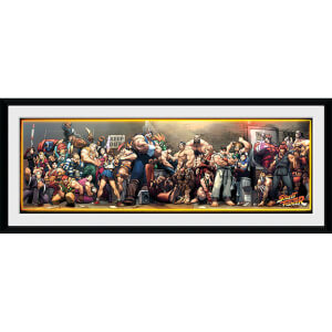 Street Fighter Times - 30 x 12 Inches Framed Photograph