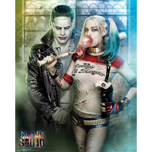 Suicide Squad The Joker and Harley Quinn - 40 x 50cm Mini Poster