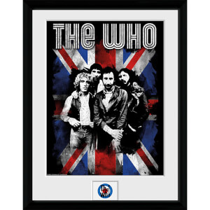 The Who Union Jack - 16 x 12 Inches Framed Photograph