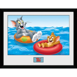 Tom and Jerry Floats - 16 x 12 Inches Framed Photograph