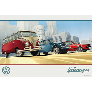 VW Camper Illustration - 61 x 91.5cm Maxi Poster