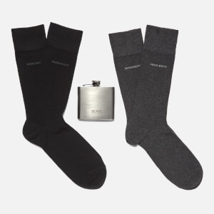 BOSS Hugo Boss Men's Flask and Socks Gift Set - Black