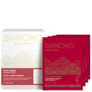Skimono Beauty Foot Mask for Total Conditioning 4 x 16ml