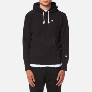 Champion Men's Over Head Small Chest Logo Hoody - Black