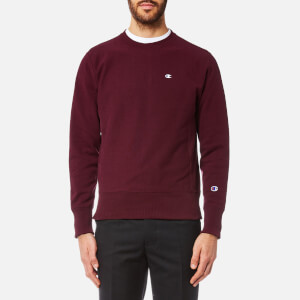 Champion Men's Small Chest Logo Sweatshirt - Burgundy
