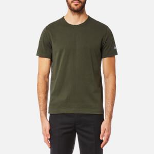 Champion Men's Basic Sleeve Logo Short Sleeve T-Shirt - Khaki