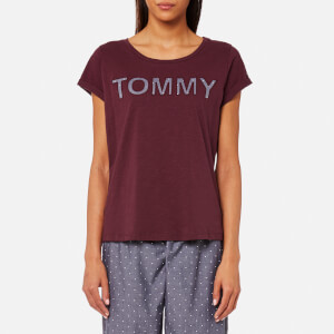 Tommy Hilfiger Women's Logo Short Sleeve T-Shirt - Grape Wine