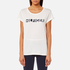 Tommy Hilfiger Women's Logo Short Sleeve T-Shirt - Snow White