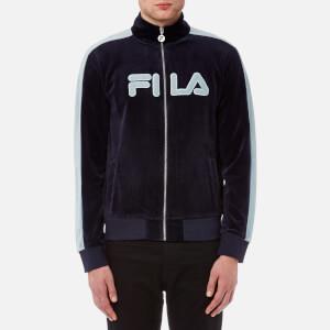 FILA Blackline Men's Jamie Velour Track Jacket - Peacoat