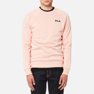FILA Blackline Men's Levi Appliqué Back Crew Neck Sweatshirt - Evening Sand