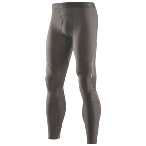 Skins Men's RY400 Long Tights - Green/Yellow