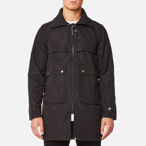 Pretty Green Men's Walton Funnel Neck Parka - Black