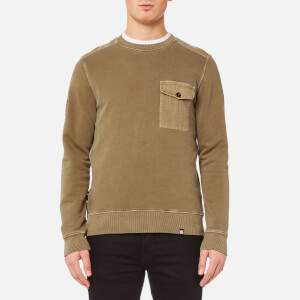 Pretty Green Men's Trebeck Crew Neck Sweatshirt - Mid Green