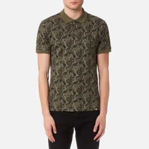 Pretty Green Men's Ryder Paisley Polo Shirt - Khaki
