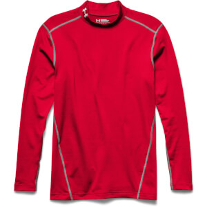 Under Armour Men's ColdGear Armour Compression Long Sleeve Top - Red