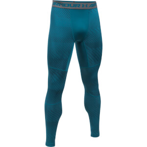 Under Armour Men's Striped Compression Leggings - Blue