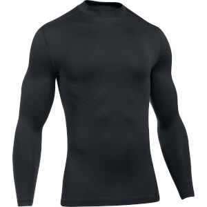 Under Armour Men's Striped Compression Long Sleeve Top - Black