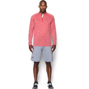 Under Armour Men's Tech 1/4 Zip Long Sleeve Top - Red